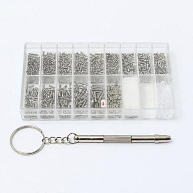 رخيصةأون أدوات اليد-1000 مسامير صغيرة الجوز مفك ووتش نظارات نظارات إصلاح أداة تعيين كيت