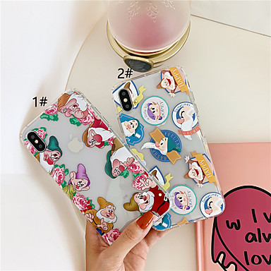 voordelige iPhone-hoesjes-hoesje Voor Apple iPhone XS / iPhone XR / iPhone XS Max Transparant / Patroon Achterkant Cartoon Zacht TPU