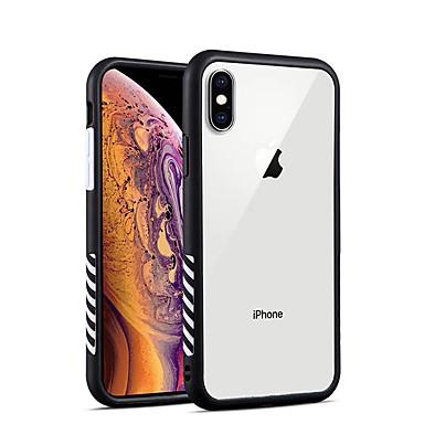 voordelige iPhone-hoesjes-hoesje Voor Apple iPhone XS / iPhone XR / iPhone XS Max Schokbestendig / Transparant Achterkant Transparant TPU / Acryl