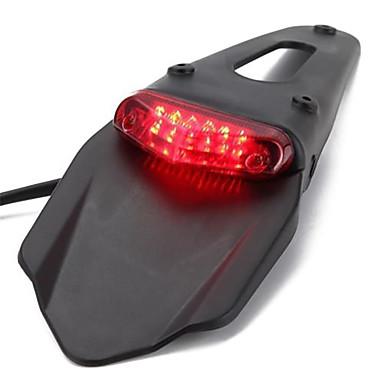 Недорогие Фары для мотоциклов-светодиодный мотоцикл красный задний фонарь для велосипеда грязи уличный автомобиль аксессуары для мотоциклов