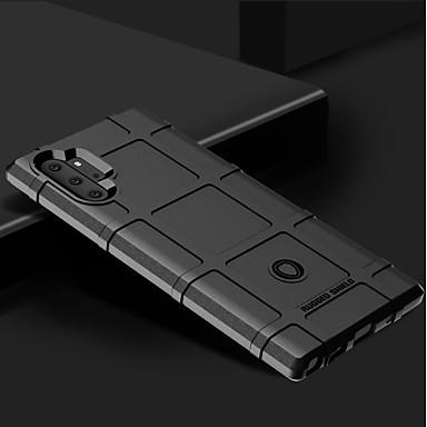 Недорогие Чехлы и кейсы для Galaxy Note-Кейс для Назначение SSamsung Galaxy Note 9 / Note 8 / Galaxy Note 10 Защита от удара Кейс на заднюю панель Однотонный ТПУ
