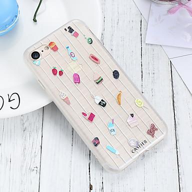 voordelige iPhone X hoesjes-hoesje voor Apple iPhone XS Max / iPhone XR waterdicht / stofdicht / doorschijnende achterkant voedsel zachte TPU / cartoon leuke mode shell telefoon hoesje voor iPhone 5 / 5s / 6 / 6s / iPhone 6 / 6s