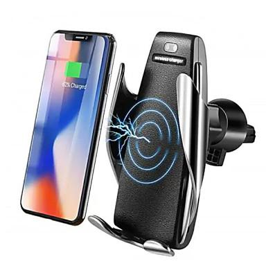10 W Draadloze Infrarood Sensor Automatische Vastklemmen Snelle Autolader Mount Holder Stand Draadloze Oplader Qi Snel Auto Vastklemmen Mount Ventilatie voor Samsung / iPhone X XS / Huawei P30 Mate20