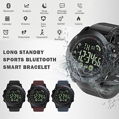 Недорогие Смарт-электроника-Pr1 умные часы из нержавеющей стали BT фитнес-трекер поддержка уведомлять спорт на открытом воздухе Bluetooth SmartWatch совместимые телефоны Samsung / Android