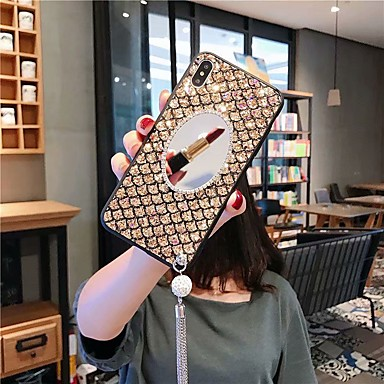 Недорогие Кейсы для iPhone-чехол для яблока iphone xs / iphone xr / iphone xs max / 7 8 plus / 6splus 6 противоударный / горный хрусталь / задняя крышка зеркала блестящий блеск акрил