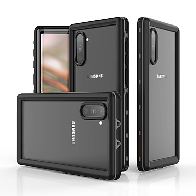 Недорогие Чехлы и кейсы для Galaxy Note-Кейс для Назначение SSamsung Galaxy Note 9 / Note 8 / Galaxy Note 10 Защита от удара / Защита от влаги Чехол Однотонный ТПУ