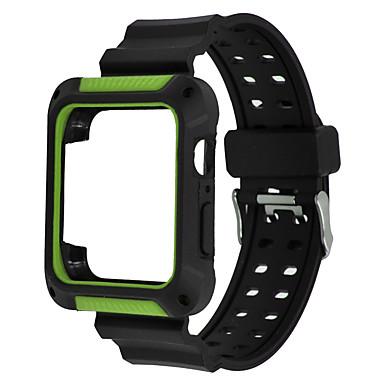 Недорогие Аксессуары для смарт-часов-Ремешок для часов для Apple Watch Series 4/3/2/1 Apple Спортивный ремешок силиконовый Повязка на запястье