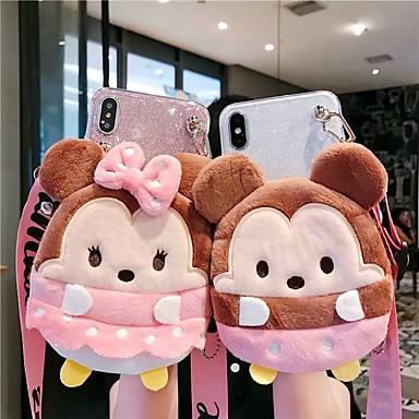 voordelige iPhone-hoesjes-hoesje voor Apple iPhone XS / iPhone XR / iPhone XS / X / 7 8 Plus 6Splus Max Portemonnee / Schokbestendig / Patroon Achterkant Dier / Glitterglans TPU