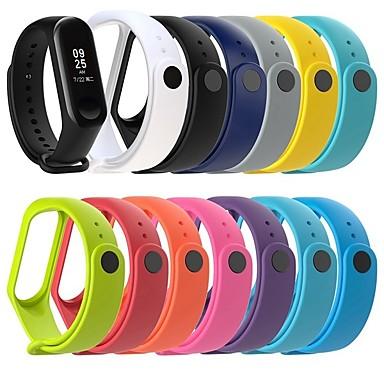 voordelige Smartwatch-accessoires-Horlogeband voor Mi Band 3 Xiaomi Klassieke gesp Silicone Polsband