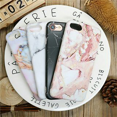voordelige iPhone 7 Plus hoesjes-hoesje Voor Apple iPhone XR / iPhone XS Max / iPhone X Stofbestendig / Ultradun / Patroon Achterkant Marmer TPU