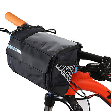 olcso Kerékpár táskák-3 L Kormánytáska Hordozható Vízálló Viselhető Kerékpáros táska Bőr PVC 400D Nylon Kerékpáros táska Kerékpáros táska Kerékpározás Szabadtéri gyakorlat Kerékpár