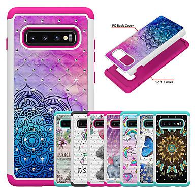 voordelige Galaxy Note-serie hoesjes / covers-hoesje voor samsung galaxy s9 / s8 plus / s8 / s9 plus / s10 / s10e / s10 plus / note9 / note10 patroon achterkant vlinder / dier / cartoon acryl