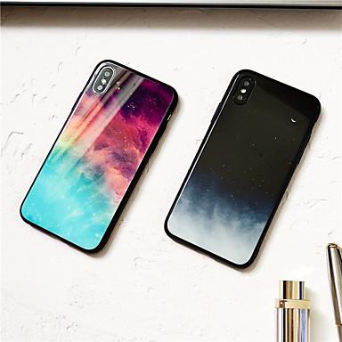Недорогие Чехлы и кейсы для Galaxy Note-Кейс для Назначение SSamsung Galaxy S9 / S9 Plus / S8 Plus Зеркальная поверхность / Ультратонкий / С узором Кейс на заднюю панель Цвет неба / Пейзаж ТПУ