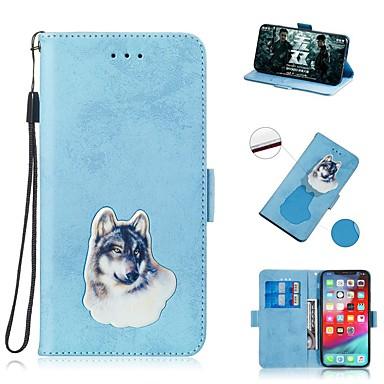 Недорогие Чехлы и кейсы для Galaxy S-Кейс для Назначение SSamsung Galaxy S9 / S9 Plus / S8 Plus Кошелек / Бумажник для карт / Защита от удара Чехол С собакой Кожа PU