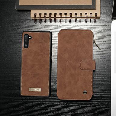 povoljno Slučajevi i prekrivači-Θήκη Za Samsung Galaxy Galaxy Note 10 / Galaxy Note 10 Plus Novčanik / Utor za kartice / Otporno na trešnju Korice Jednobojni PU koža