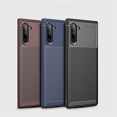 povoljno Maske za mobitele-Θήκη Za Samsung Galaxy Samsung Note 10 / Galaxy Note 10 Plus Otporno na trešnju / Ultra tanko Stražnja maska Jednobojni Carbon Fiber