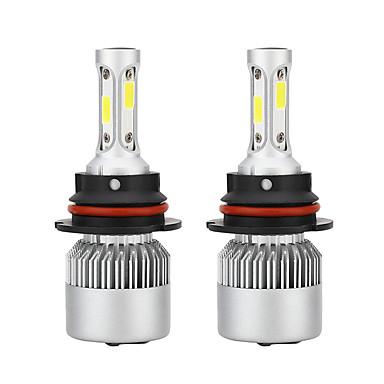 Недорогие Автомобильные фары-1 пара авто s2a 9007 лампы накаливания фар 6500 К 72 Вт 8000lm стайлинга автомобилей белые светодиодные лампы