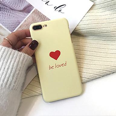 Недорогие Кейсы для iPhone 7-чехол для яблока iphone xs / iphone xr / iphone xs max пыленепроницаемый / выкройка задней обложки слово / фраза / сердечный жесткий ПК для iphone xr / 6/7/8 / 6p / 7p / 8p / x