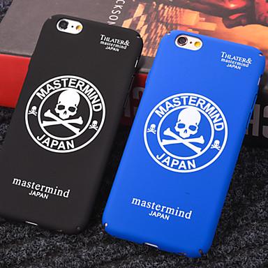 Недорогие Кейсы для iPhone 7 Plus-Кейс для Назначение Apple iPhone XS / iPhone XR / iPhone XS Max Защита от пыли / С узором Чехол Слова / выражения / Черепа ПК
