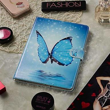 Недорогие Чехлы и кейсы для Sony-регулируемый футляр для яблока / samsung galaxy / huawei / sony xperi / acer / asus / amazon / lenovo универсальный кошелек / визитница / с подставкой для всего тела синяя бабочка из искусственной
