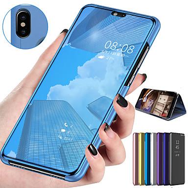 رخيصةأون Xiaomi أغطية / كفرات-مرآة الوجه الذكية القضية ل xiaomi cc9 ميل cc9e ميل 9 طن الموالية 9 طن حالة واضحة الرؤية بو الجلود مسنده فليب غطاء