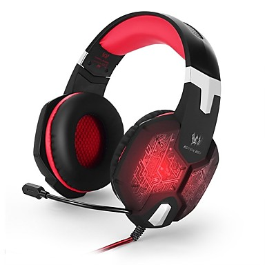 Недорогие Наушники для геймеров-KOTION EACH G1000 Игровая гарнитура Проводное Игры Стерео С микрофоном С регулятором громкости