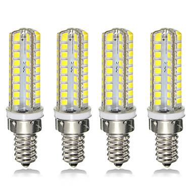 levne LED Žárovky-4ks 7 W LED corn žárovky 300 lm E14 E12 72 LED korálky SMD 2835 Stmívatelné 220-240 V 110-120 V