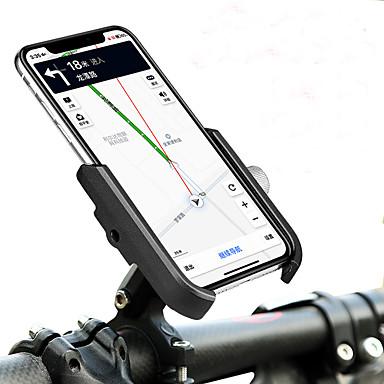 olcso Tartók-Telefon tartó Hordozható Állítható / Behúzható Csúszásgátló mert Treking bicikli Mountain bike összecsukható kerékpár Aluminum Alloy iPhone X iPhone XS iPhone XR Kerékpározás Fekete Fekete / vörös
