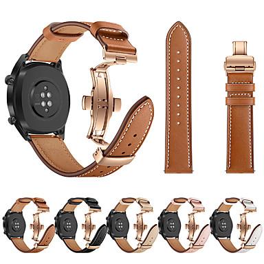 voordelige Smartwatch-accessoires-horlogeband rose goud vlinder gesp lederen band armband riem voor huawei horloge gt