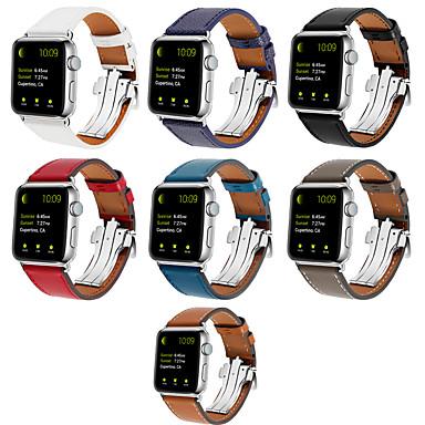 Недорогие Ремешки для Apple Watch-Ремешок для часов для Серия Apple Watch 5/4/3/2/1 / Apple Watch Series 4 Apple Кожаный ремешок Натуральная кожа Повязка на запястье