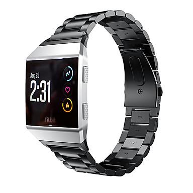 Недорогие Аксессуары для мобильных телефонов-Ремешок для часов для Fitbit ionic Fitbit Бизнес группа Нержавеющая сталь Повязка на запястье