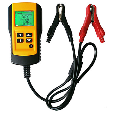 Недорогие OBD-цифровой автоматический тестер нагрузки анализатора аккумулятора автомобиля с подсветкой ЖК-дисплея для автомобильного аккумулятора 12 В
