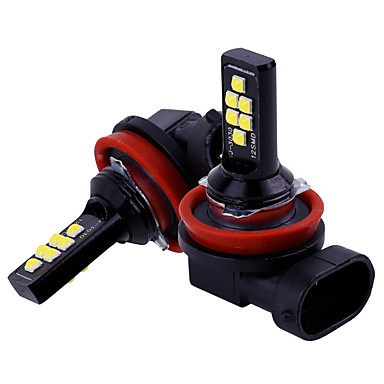 رخيصةأون مصابيح السيارة-2 قطع سيارة h11 / h8 led المصابيح سيارة أضواء الضباب القيادة 12 smd 3030 led الذيل مصباح ضوء مواقف السيارات 12 فولت السيارات 6000 كيلو الأبيض / العنبر / الأحمر