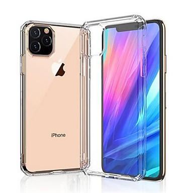 Недорогие Кейсы для iPhone-Кейс для Назначение Apple iPhone SE (2020) Защита от удара / Прозрачный Чехол / Бампер Однотонный ТПУ