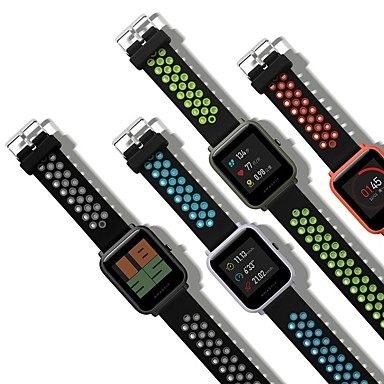 Недорогие Аксессуары для смарт-часов-Ремешок для часов для Huami Amazfit Bip Younth Watch Xiaomi Классическая застежка Натуральная кожа Повязка на запястье