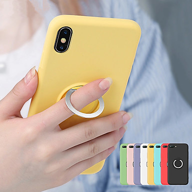 Недорогие Кейсы для iPhone-магнитное кольцо мягкий тпу чехол для iphone xs max xr xs x 8 плюс 8 7 плюс 7 6 плюс 6 жидкий силиконовый чехол противоударный держатель