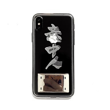voordelige iPhone-hoesjes-hoesje Voor Apple iPhone XS / iPhone XR / iPhone XS Max LED / Transparant / Patroon Achterkant Woord / tekst TPU