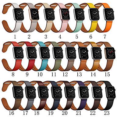 Недорогие Аксессуары для смарт-часов-Ремешок для часов для Серия Apple Watch 5/4/3/2/1 Apple Спортивный ремешок Натуральная кожа Повязка на запястье