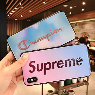 voordelige iPhone-hoesjes-hoesje Voor Apple iPhone XS / iPhone XR / iPhone XS Max Ultradun / Patroon Achterkant Woord / tekst / Kleurgradatie TPU