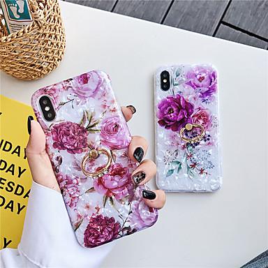 voordelige iPhone 6 hoesjes-hoesje voor apple iphone xs / iphone xr / iphone xs max met standaard / patroon achterkant bloem tpu voor iphone 6 6 plus 6s 6s plus 7 8 7 plus 8 plus x xs