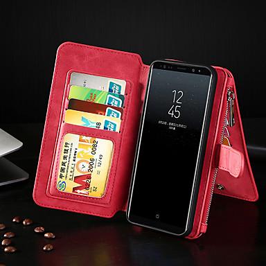 voordelige Galaxy Note-serie hoesjes / covers-hoesje Voor Samsung Galaxy Note 9 / Note 8 Portemonnee / Kaarthouder / Flip Volledig hoesje Effen PU-nahka