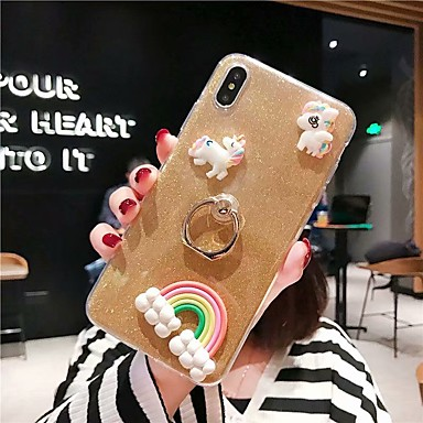 voordelige Huawei Mate hoesjes / covers-hoesje Voor Huawei Huawei P20 / Huawei P20 Pro / Huawei P20 lite Schokbestendig / Transparant / Patroon Achterkant Transparant / 3D Cartoon / Glitterglans TPU
