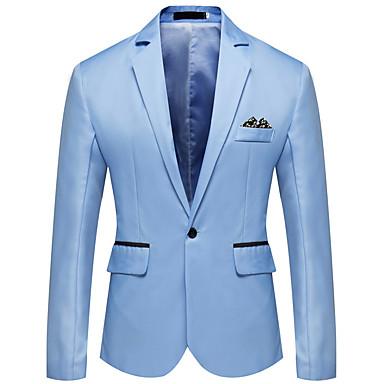 저렴한 남자 겉옷-남성용 노치 라펠 블레이져 화이트 / 블랙 / 루비 US36 / UK36 / EU44 / US38 / UK38 / EU46 / US40 / UK40 / EU48