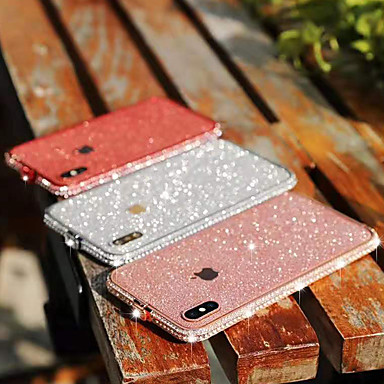 baratos Capinhas para iPhone7 Plus-caso para apple iphone xs / iphone xr / iphone xs max / 7 8 plus / 6splus / 6 s tampa traseira de strass brilho brilho de metal