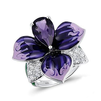 رخيصةأون خواتم-نسائي خاتم 1PC أرجواني تقليد الماس سبيكة غير منتظم الكورية موضة لطيف مناسب للبس اليومي مجوهرات وردة