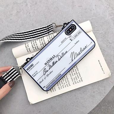 Недорогие Кейсы для iPhone X-чехол для яблока iphone xs / iphone xr / iphone xs max / 7 8 plus / 6splus / 6s шаблон задняя крышка слово / фраза акрил