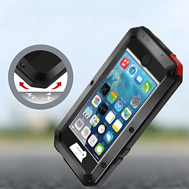 voordelige iPhone-hoesjes-hoesje voor Apple iPhone XS / iPhone XR / iPhone XS Max / 7 8 Plus / 6Splus / 6 Schokbestendig / Stofdicht / Waterbestendig Volledig hoesje Armor Metal