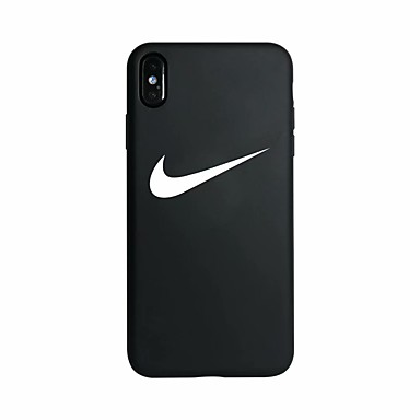 voordelige iPhone 6 hoesjes-hoesje Voor Apple iPhone XS / iPhone XR / iPhone XS Max Glow in the dark / Patroon Achterkant Woord / tekst Zacht silica Gel