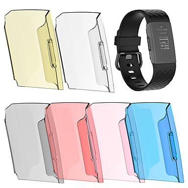 Недорогие Аксессуары для смарт-часов-умные часы браслет защитная крышка 6 цветов защитная пленка для всего тела прозрачный жесткий ПК оболочка для зарядки fitbit 3 1 шт.