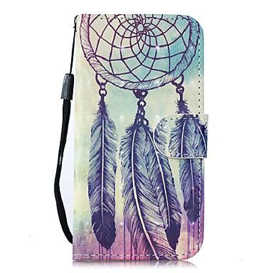 Недорогие Чехлы и кейсы для Galaxy Note-Кейс для Назначение SSamsung Galaxy Note 9 / Note 8 / Galaxy Note 10 Кошелек / Бумажник для карт / со стендом Чехол Перья Кожа PU